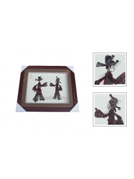 Framed Shadow Play Puppets Set---Newlywed