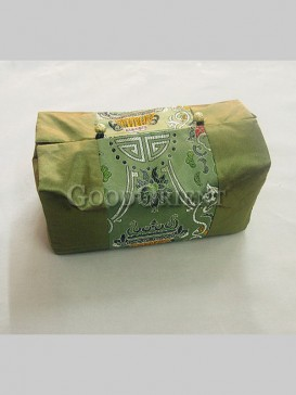 Lucky Embroidery Tissue Box Cover--Green