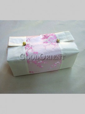 Delicate Plum Blossom Tissue Box Cover-White