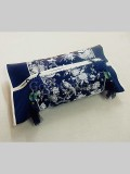 Chinese Knot Embroidery Tissue Holder-Dark Blue