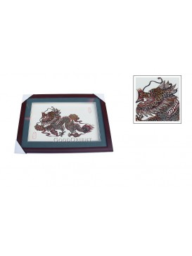 Framed Shadow Play Puppets---Flying Dragon