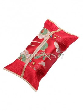 Fashionable Embroidery Lotus Tissue Holder