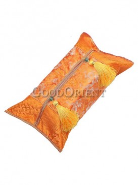 Embroidery Dragon Tissue Box Cover-Orange