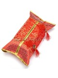 Classical Embroidery Dragon Tissue Holder-Red