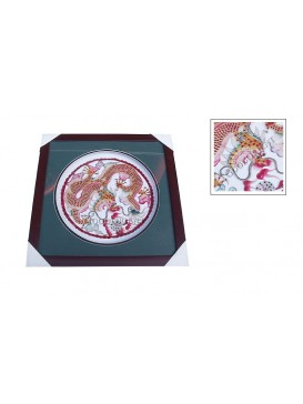 Colorized Framed Shadow Play Puppets---Dragon