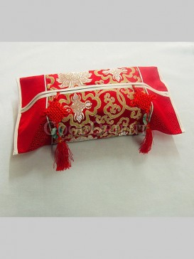 Exqusite Handmade Tissue Box Cover-Red