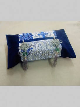 Exqusite Handmade Tissue Box Cover-Blue
