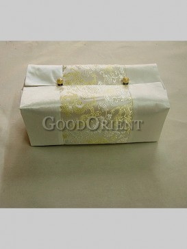 Classical Embroidery Dragon Tissue Holder-Beige