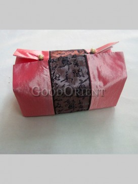 Chinese Calligraphy Pattern Tissue Holder-Pink