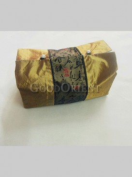Chinese Calligraphy Pattern Tissue Holder-Gold