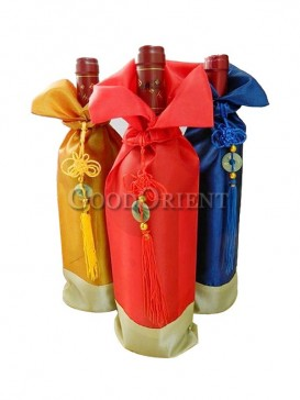 Thai silk sun wine bottle cover