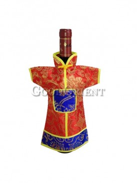 Chinese clothing design wine bottle cover