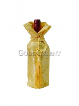 Yellow dragon wine bottle cover
