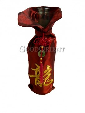 Thai silk wine bottle cover