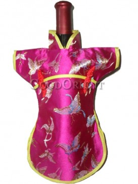 Chinese dress style wine bottle cover