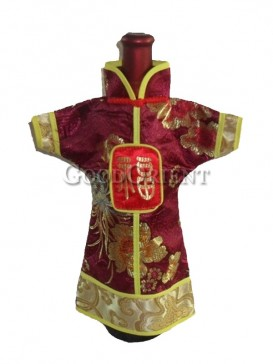 Brocade chinese style wine bottle cover