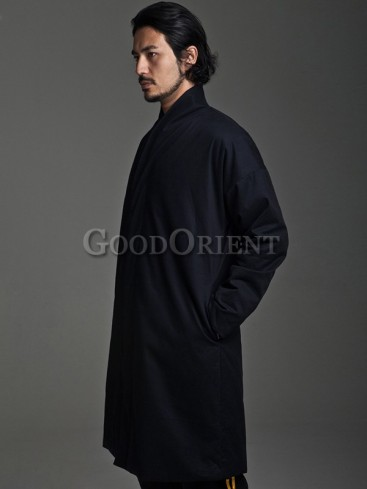 """Chinese """"Ancient Hero"""" Cotton Long Gown"""