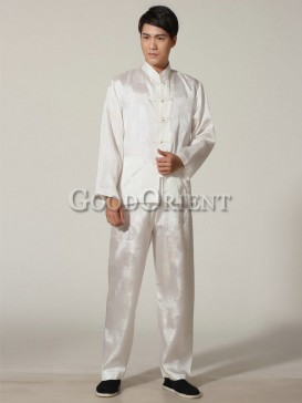 Chinese Blessing Matching Kungfu Suit--White