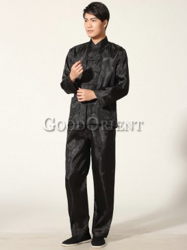 Chinese Blessing Matching Kungfu Suit--Black