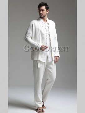 Chinese Simple Style Loose Pants