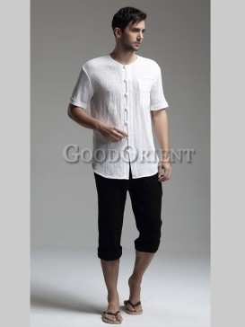 Traditional Simple Style Men's Pants