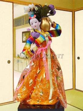 Beautiful Dae Jang Geum Korea Doll Series--Vase