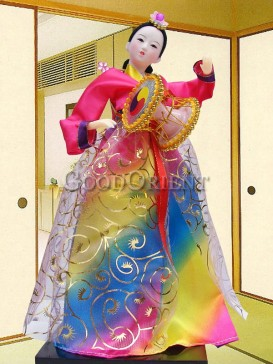 Exquisite Dae Jang Geum Korea Doll Series--Drum
