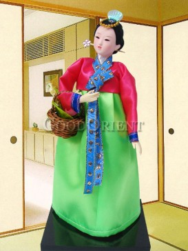 Classical Dae Jang Geum Korea Doll Series--Basket