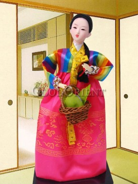 Attractive Dae Jang Geum Korea Doll Series--Basket