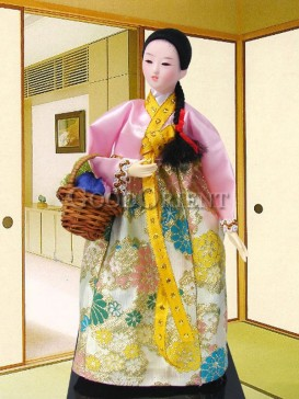 Gorgeous Dae Jang Geum Korea Doll Series--Basket