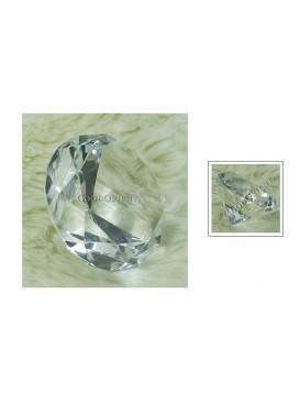 Crystal Diamond Paperweight---Transparent