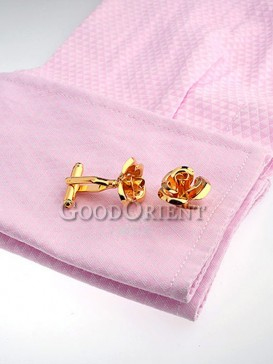 Fashionable Rose Pattern Shirt Cufflinks