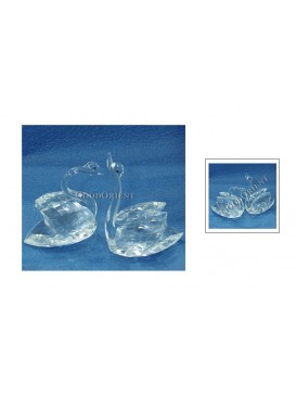 Crystal Swan Couple Decoration---Transparent