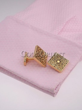 Chinese Style Golden Shirt Cufflinks