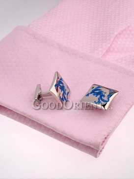 Classical Blue Dragon Shirt Cufflinks