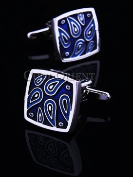Fashionable Peacock Pattern Shirt Cufflinks