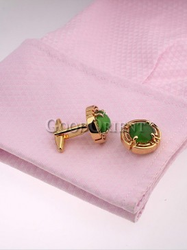 Charming Green Opal Shirt Cufflinks