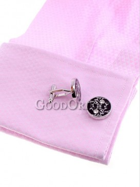 Stylish Floral Pattern Shirt Cufflinks