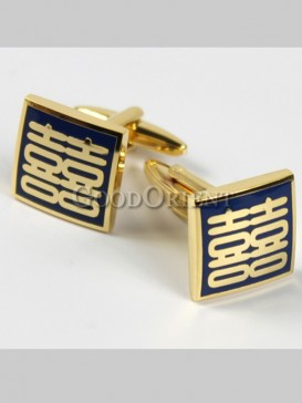 Charming Double Happiness Shirt Cufflinks