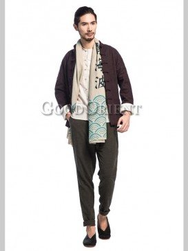 "Fashionable ""Sea Wave"" Men's Scarf"