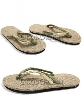 Simple Linen Rope Men's Slipper