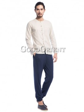 Simple Pure Color Men's Pants