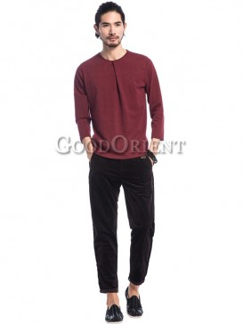 Leisure Style Pure Color Men's Pants