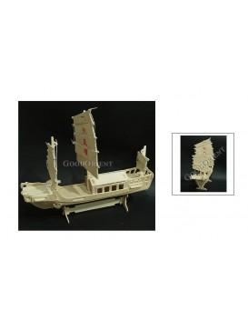 European Sailing Boat Wooden Press Out Models