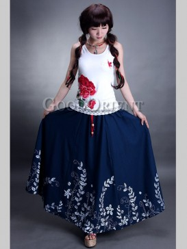 Traditional Hand-Printed Floral Skirt