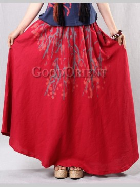 Ethnic Hand-Painted Floral Women Skirt