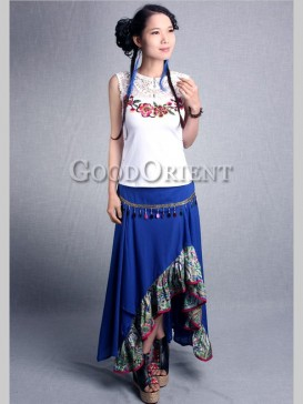 Fashionable Irregular Split Falbala Skirt