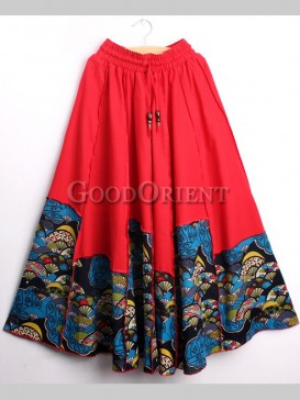 Delicate Stitching Color Women Skirt