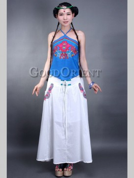 Fancy Embroidery Floral Chinese Skirt