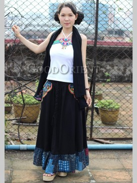 Charming Embroidery Floral Women Skirt